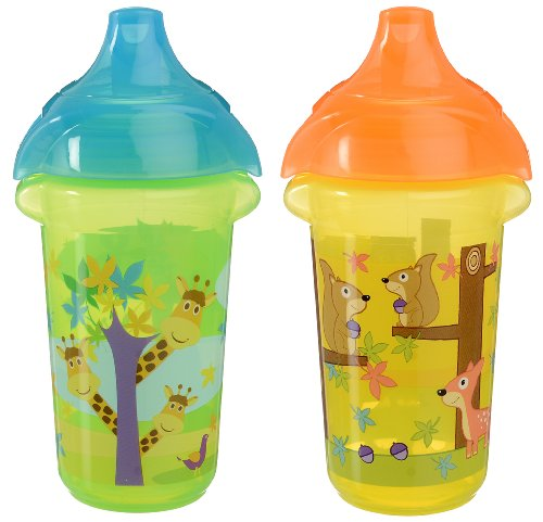 Munchkin Click Lock Sippy Cup, Giraffe/Forest, 9 Ounce, 2 Count front-96541