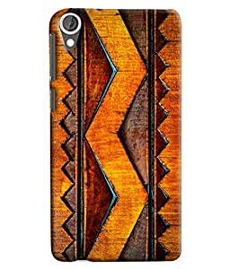 Blue Throat Wooden Pattern Hard Plastic Printed Back Cover/Case For HTC Desire 820
