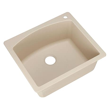 Blanco 441215 Diamond Single-Basin Drop-In Granite Kitchen Sink, Biscotti
