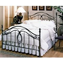 Hot Sale Hillsdale Furniture 167BKR Milano Bed Set with Rails, King, Antique Pewter