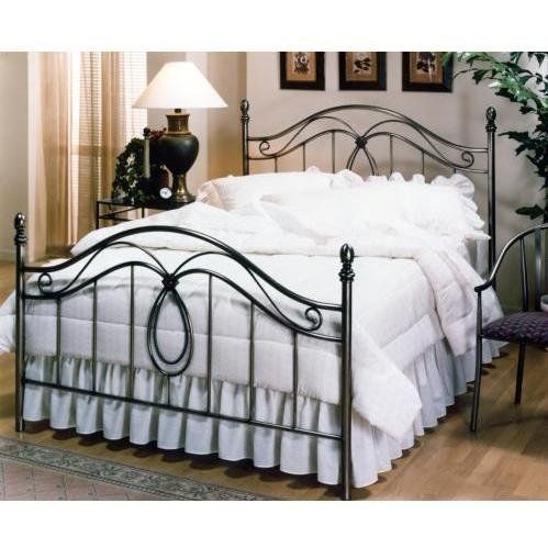 Hillsdale Furniture 167Bkr Milano Bed Set With Rails, King, Antique Pewter front-901695