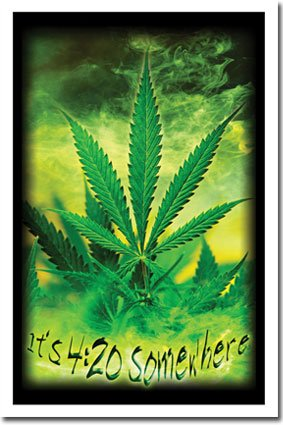 Blacklight Marijuana Pot Weed Ganja 23X35 Poster 8227