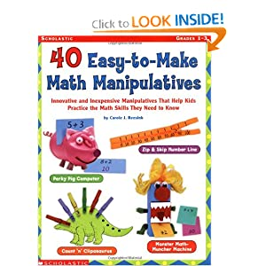40 Easy-to-make Math Manipulatives