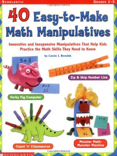 40 Easy-to-make Math Manipulatives