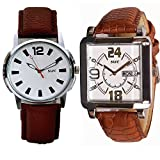 SWC-75 DESIGNER ANALOG COMBO OF 2 WATCHES FOR MEN & BOYS