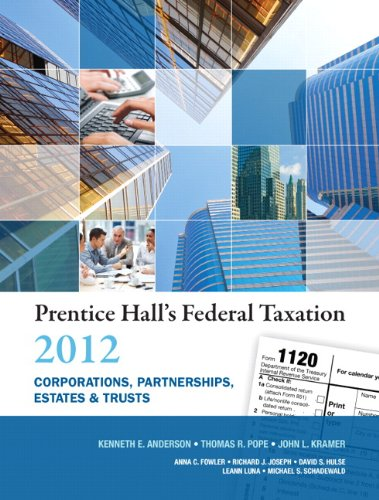 Prentice Hall's Federal Taxation 2012 Corporations,...
