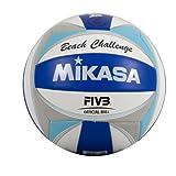 """Mikasa 1615 - Palla da beach volley """"Challenge"""", colore: Blu/Azzurro/Bianco/Argento"""