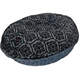 BESSIE AND BARNIE 30-Inch Bagel Bed For Pets, Small, Blue Sky/Versailles Blue