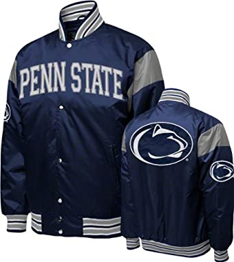 NCAA Mens Penn State Nittany Lions Satin Jacket by MTC Marketing, Inc