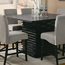 brownville counter height 9 piece dining table set in rich black