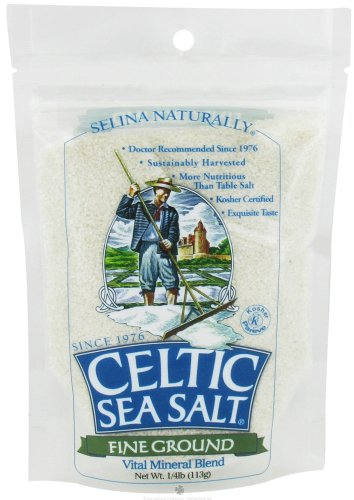 Selina Naturally - Celtic Sea Salt Resealable Bag Fine Ground