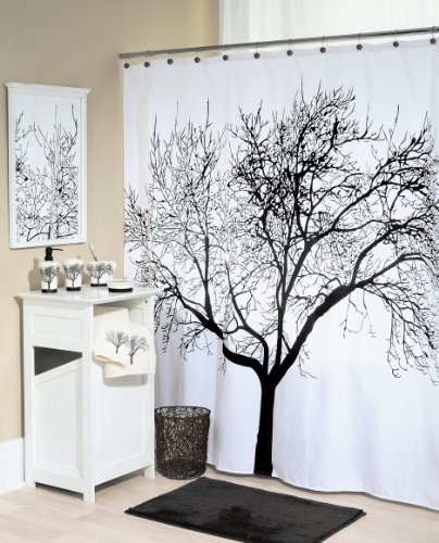 Black Tree Shower Curtain - Birch, Oak, Tree of Life - Best Reviews cover image