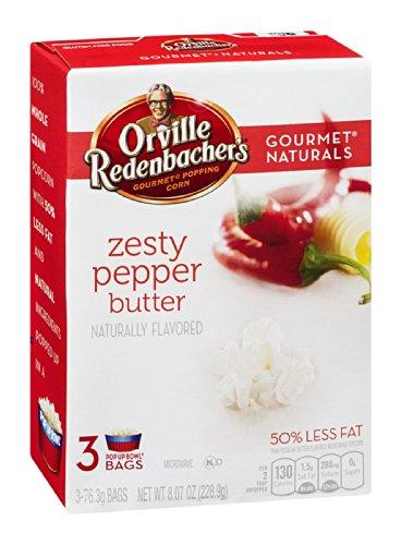 Orville Redenbacher'S Gourmet Popping Corn Pop Up Bowl Zesty Pepper Butter , 8.07 Oz (Pack Of 12)