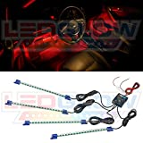 4pc. Red LED Interior Underdash Lighting Kit thumbnail