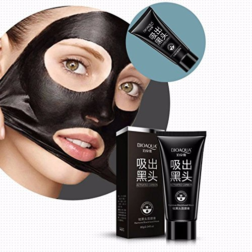 New Black Mask Facial Mask Nose Blackhead Remover Peeling Peel Off Black Head Acne Treatments Face Care Suction (Pore Opening Steam compare prices)