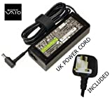 Original Sony VAIO VPCS series VPCS11F7E charger adapter includes free uk mains cable with 1 year warranty