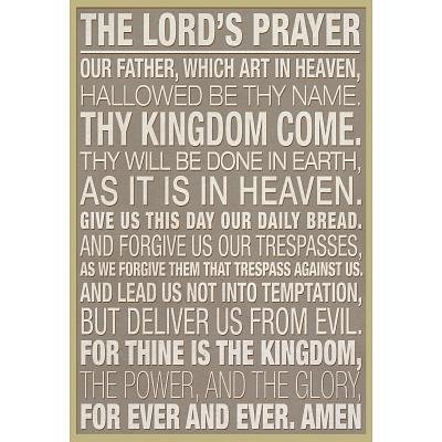 (13×19) The Lord's Prayer Religious Poster