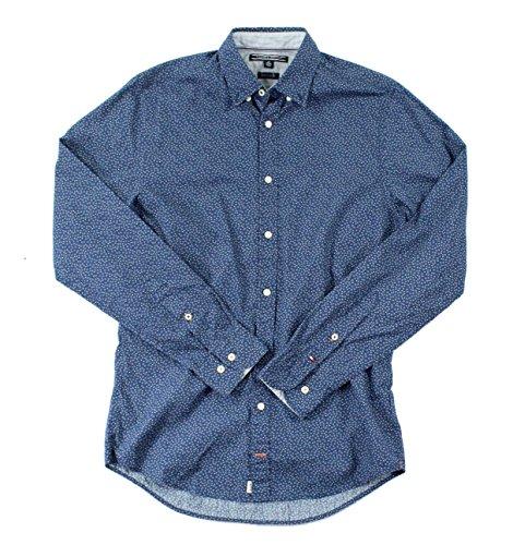 Tommy Hilfiger Mens Button-Front Geo-Print Shirt