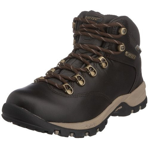 Hi-Tec Women's Vlite Altitude Ultra Luxe Waterproof WPi WPi Hiking Boot Chocolate/LightTaupe - Leather Full Grain F000586-041 6.5 UK