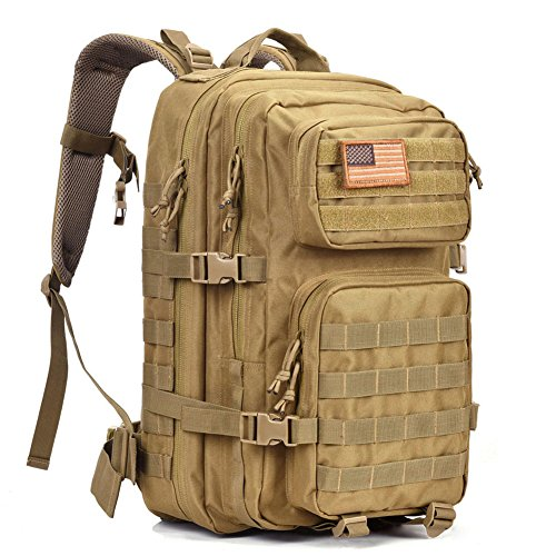 Military Tactical Backpack Large Army 3 Day Assault Pack Waterproof Molle Bug Out Bag Backpacks Rucksacks for Outdoor Hiking Camping Trekking Hunting Tan (Range Bag Tactical Backpack compare prices)