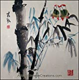 Original Chinese Painting - Traditional Chinese Paintings: Chinese Brush Painting - Birds & Bamboo