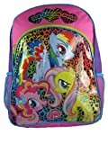 "My Little Pony 16"" Backpack Rainbow Animal Print Bookbag"