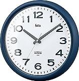 Felio(フェリオ) 電波壁掛け時計 ソーシャルタイム アナログ表示 連続秒針 ネイビーブルー FEW180NB