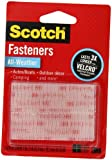 Scotch(R) All-Weather Fasteners, 2 Sets of 1 Inch x 3 Inches, Strips, Clear (RFD7090)
