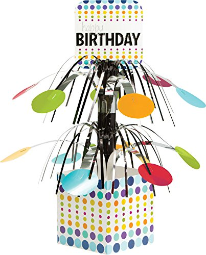 Creative Converting Birthday Pop! Centerpiece with Mini Cascade and Base, Multicolor