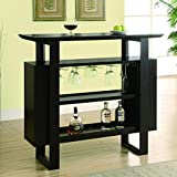 Monarch Bar Unit with Bottle and Glass Storage, 48-Inch, Cappuccino