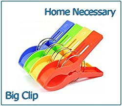 4pcs/set Powerful Laundry Clips Large Windproof Clip Cotton Quilt Clothing Plastic Clothes pin Clothes Sun Caught Big Clip For Multipurpose Also Mobiles Etc Only From M.P Enterprise