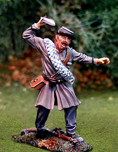 Collectors Showcase confederate soldier. Metal collectable soldier. 1/30th scale Butternut Rebel fighting under Robert E. Lees command on Little Round