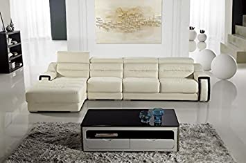 3pc Modern Contemporary Adjustable Sectional Leather Sofa Set - AM-L678-IV