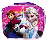 Pink and Purple Disney Frozen Anna and Elsa Kids Lunch Bag