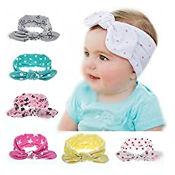 SKYLARKING For Little Baby Girl Newborn Turban Headband Head Wrap Wear Hair Band (set3)