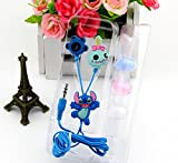 Disney's Lilo & Stitch Headphone Earphone Wired Cell Phone Headsets for Iphone Samsung HTC (A)