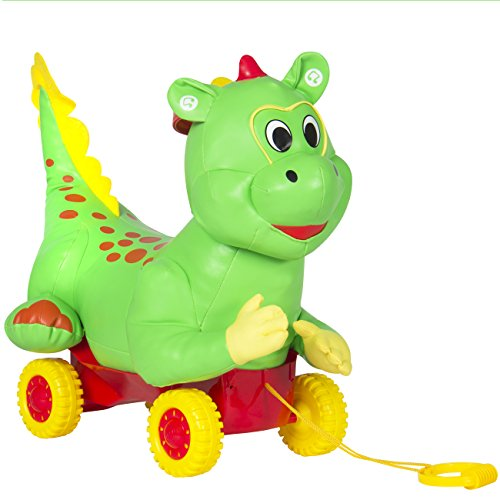 Best-Choice-Products-Ride-On-Green-Dragon-w-Wheels-Educational-Musical-Kid-Toy-Car-Child