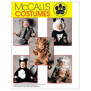 McCall's Patterns M6105 Toddlers' Costumes, Size 1/2