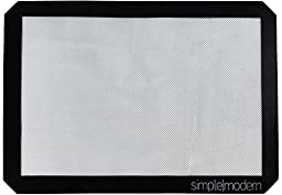 Simple Modern Silicone Baking Mat - For Half Sheet Size Pans - Black Non-Stick Cookie Sheets - Replacement for Parchment Paper & Aluminum Foil - Compare to Silpat