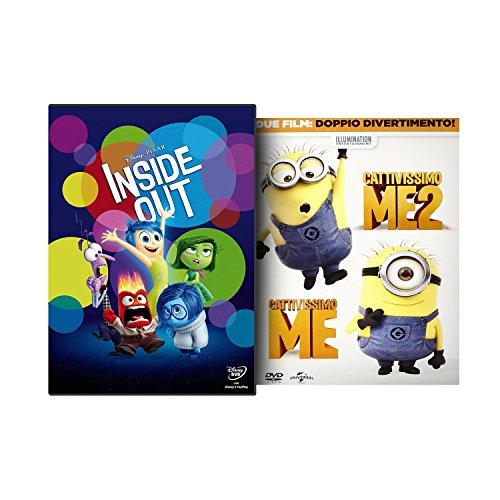 Inside Out + Cattivissimo Me Cap. 1 & 2 (3 DVD)