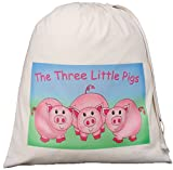 The Three Little Pigs - Large Cotton Drawstring Storage Bag - Teaching Resource Sack - SUPPLIED EMPTY