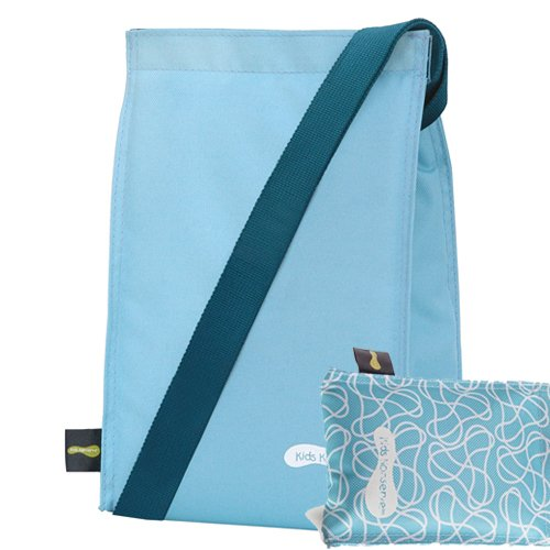 Kids Konserve Insulated Lunch Sack + Matching Sweat-Free Ice Pack (SKY/SKY)