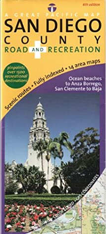 San Diego County Road & Recreation Map 6th Edition