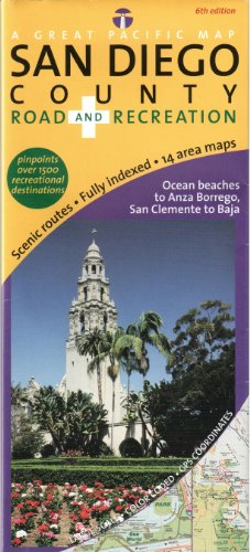 San Diego County Road & Recreation Map, 6th Edition