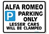 Alfa Romeo Parking Sign - Gift for 146 156 gtv 155 ts 3.0 v6 car models - Size Large 205 x 270mm