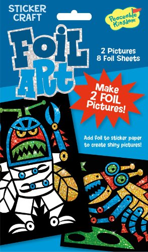 Peaceable Kingdom / Foil Art Robots Sticker Craft Pack front-639687