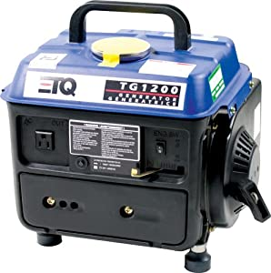 ETQ TG1200 1,200 Watt 2 HP 2-Cycle Gas Powered Portable Generator (Discontinued by Manufacturer)