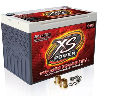 XS Power S1400 14V 2,000 Amp AGM Starting Battery with Terminal