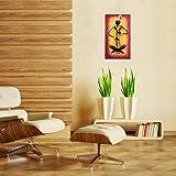 Wrought Iron Adivasi Lady Pad Musician Wooden Board 25.5x45cm WR-AL1-800