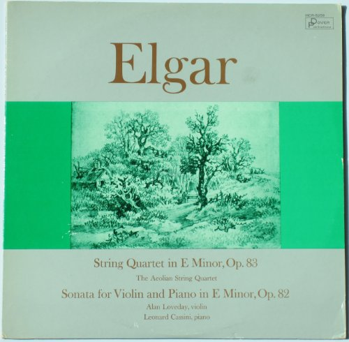 Elgar: String Quartet In E Minor, Op. 83 / Sonata For Violin And Piano In E Minor, Op.82 / The Aeolian String Quartet